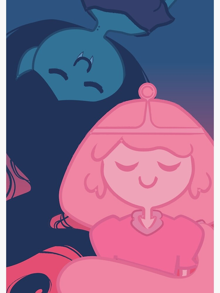 Marceline and Bubblegum - pink and blue by merfolk
