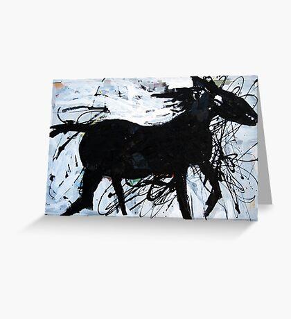 Black Horse 12 Greeting Card