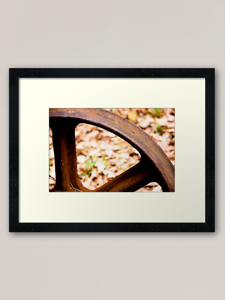 Alternate view of Old wheel Framed Art Print