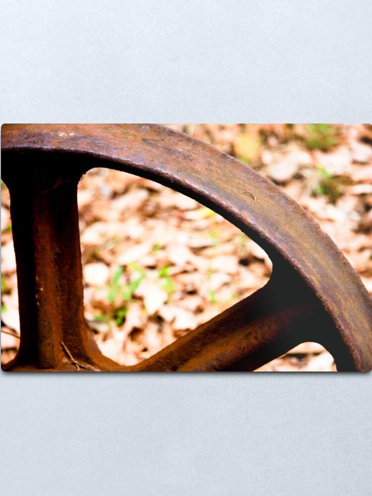 Alternate view of Old wheel Metal Print