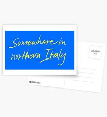 """Call Me By Your Name """"Somewhere In Northern Italy"""" Postcards"""