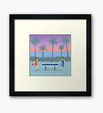 The Secret of Ping Pong Island Framed Print