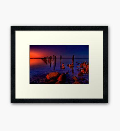 """""""Nightfall At The Dell"""" Framed Print"""