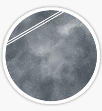 Grey Galaxy Pattern Sticker