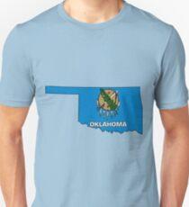 Oklahoma Map With Oklahoma State Flag Unisex T-Shirt