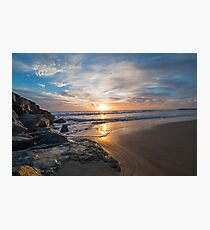 Newport Beach River Jetties at Peace Photographic Print