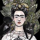 Frida Kahlo Tshirt (back) by Jenny Wood
