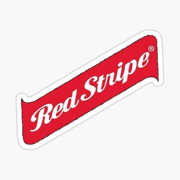 Red Stripe Sticker