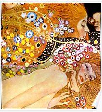 MERMAIDS : Vintage 1899 Klimt Painting Print Poster