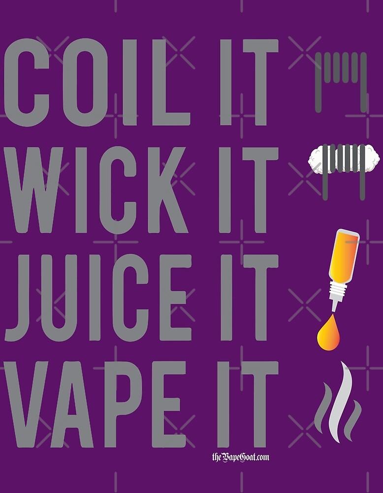 Ω VAPE   Coil Wick Juice Vape by IconicTee