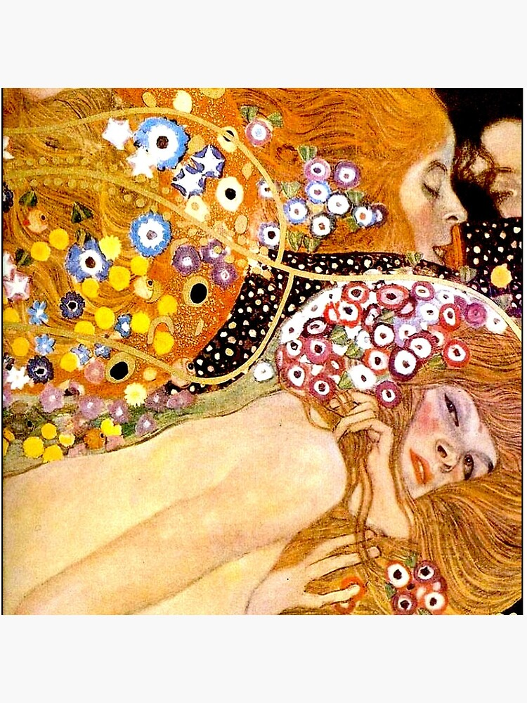 MERMAIDS : Vintage 1899 Klimt Painting Print by posterbobs