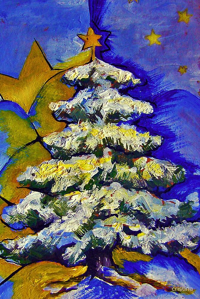 christmas tree by cristina