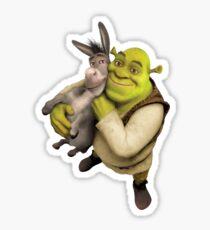 Shrek und Esel Sticker