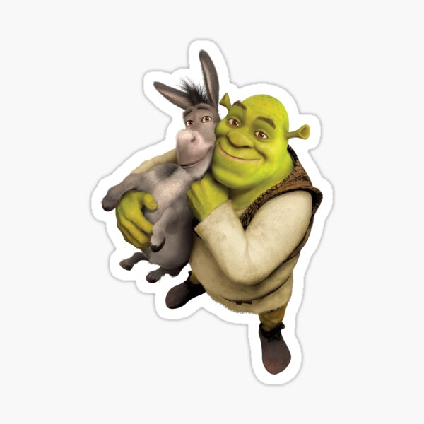 Shrek and Donkey Sticker