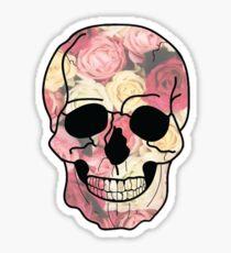 Rose Skull Sticker