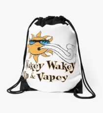 Ω VAPE Shirt | Wake and Vape Drawstring Bag