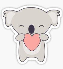 Kawaii Cute Koala Bear with heart  Sticker