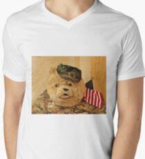 Teddy Bear In Uniform Men's V-Neck T-Shirt