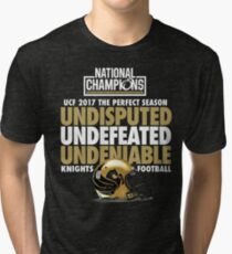 UCF 2017 National Champions - Undefeated Shirt Tri-blend T-Shirt
