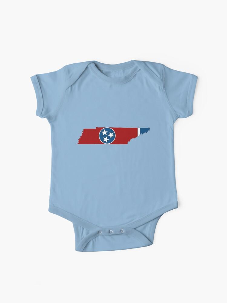 Mapa de Tennessee con la bandera del estado de Tennessee | Body para bebé
