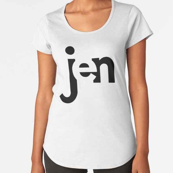 Jen - personalized Premium Scoop T-Shirt