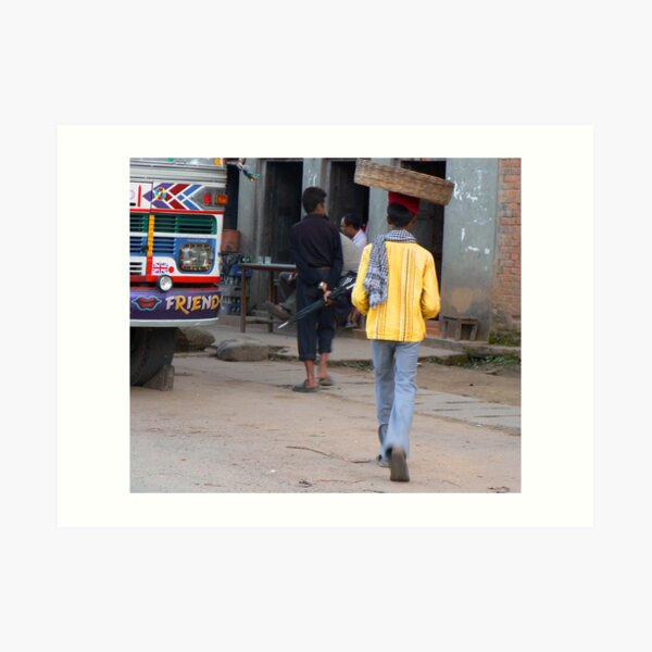 Street seller in Kathmandu, Nepal Art Print