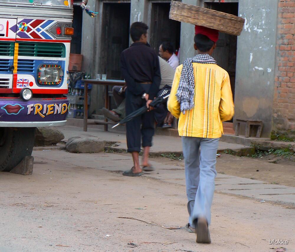 Street seller in Kathmandu, Nepal by bfokke