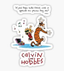 Calvin and Hobbes Dancing Sticker