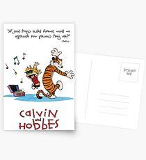 Calvin and Hobbes Dancing Postcards