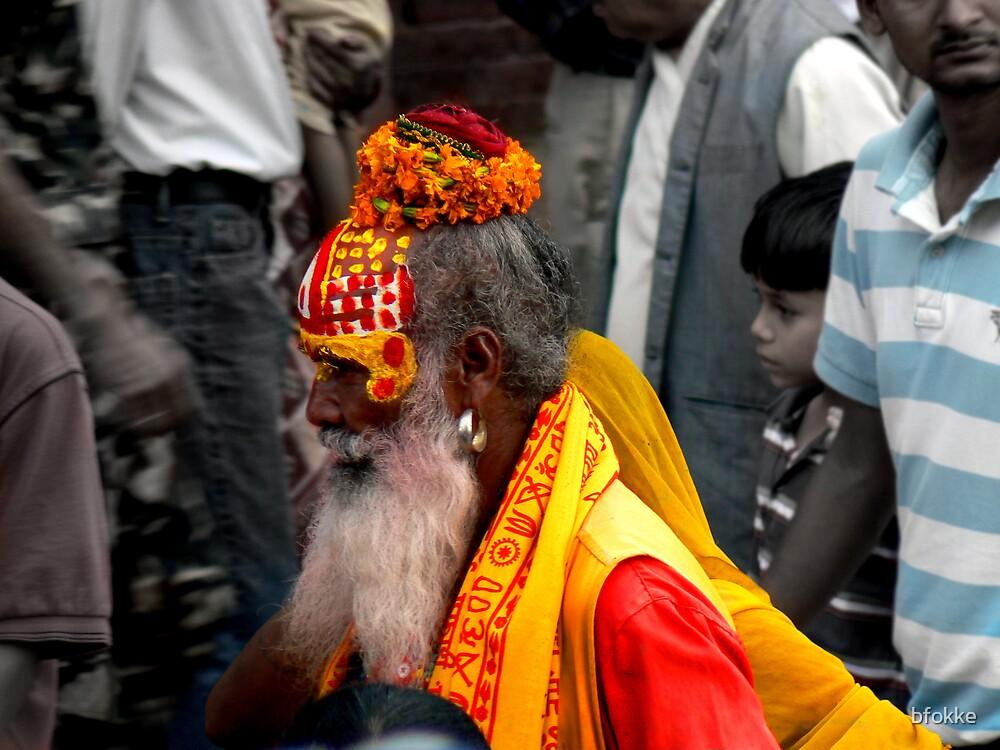 Sadhu on Durbar Square, Kathmandu Nepal by bfokke