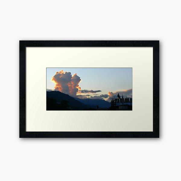 Sunset in Pokhara, Nepal Framed Art Print