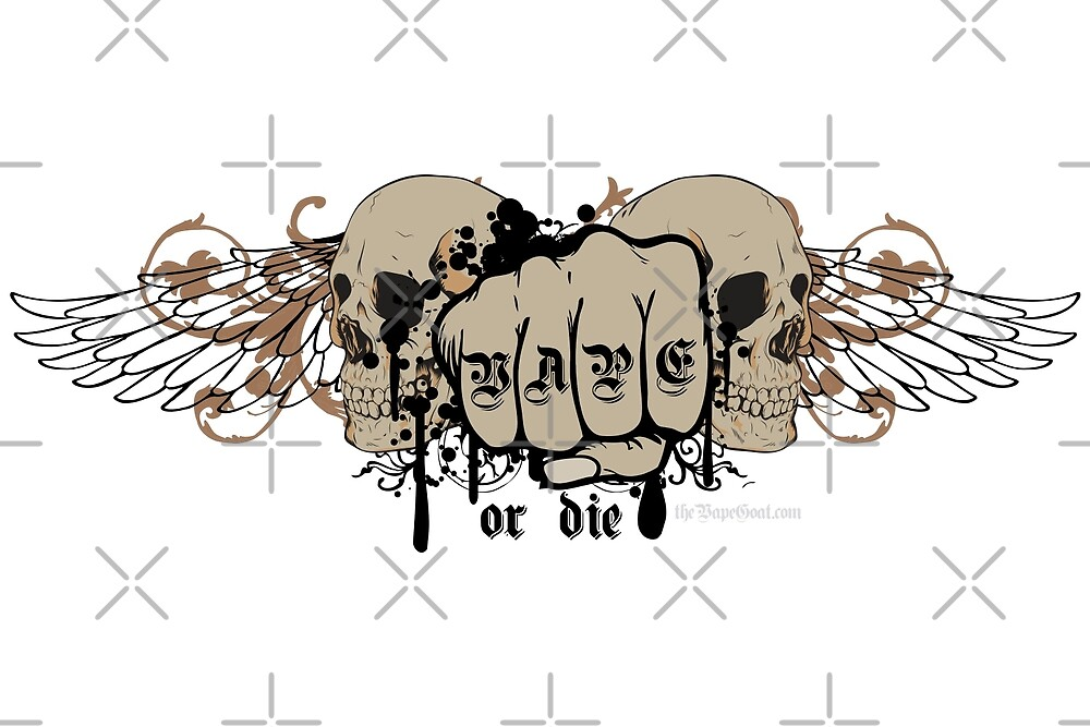 Ω VAPE  | Vape or Die Skulls and Fist  by IconicTee