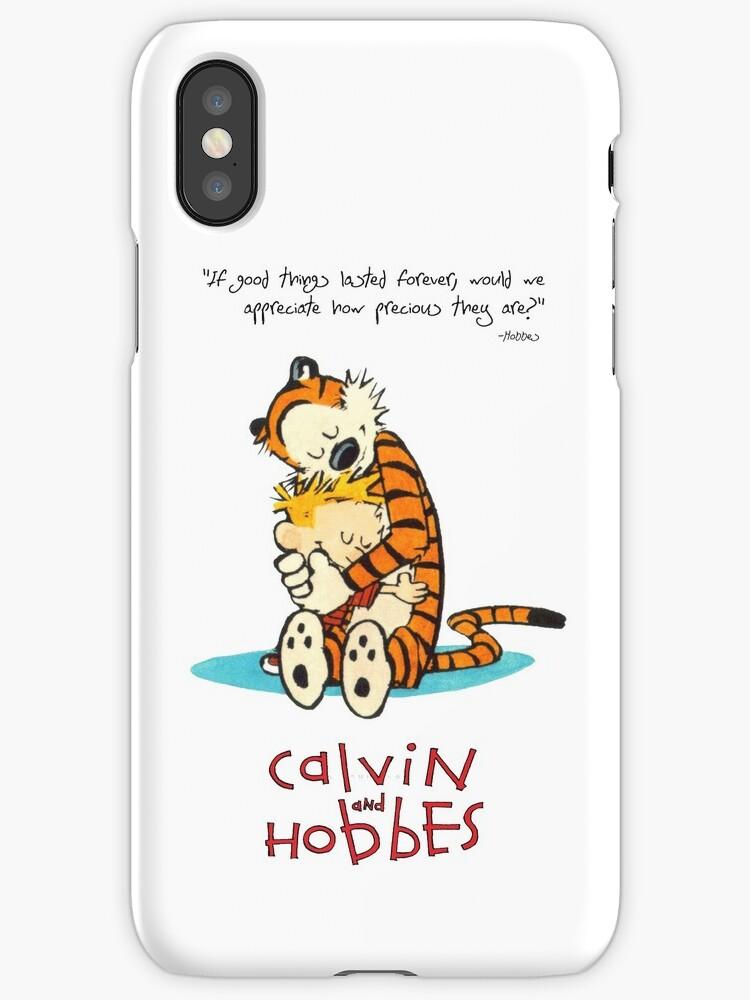 Vinilos y fundas para iPhone «Calvin y Hobbes abrazándose» de Swiss ...