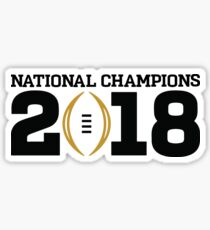 College Football National Champions 2018 Sticker