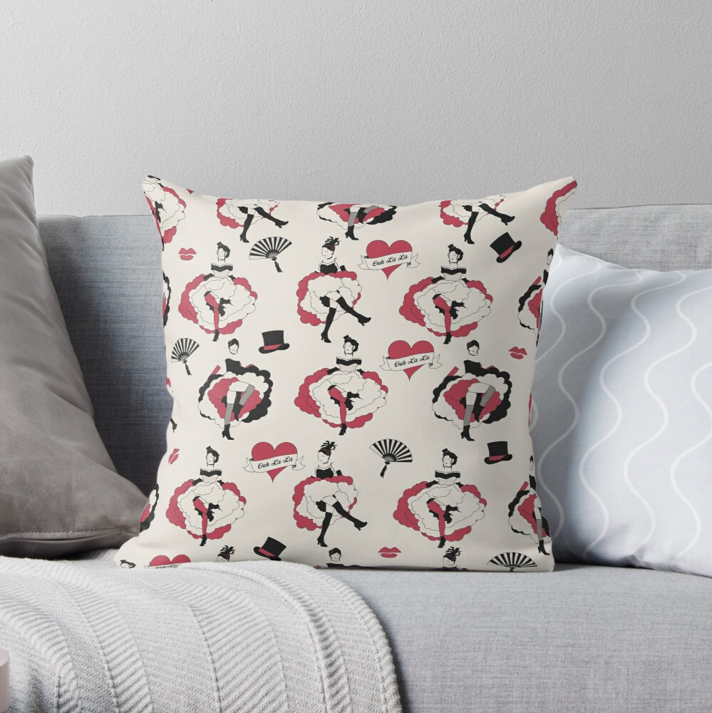 Can Can Dancers Throw Pillow