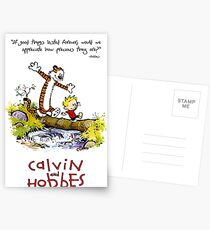 Calvin and Hobbes Over the Water Postcards