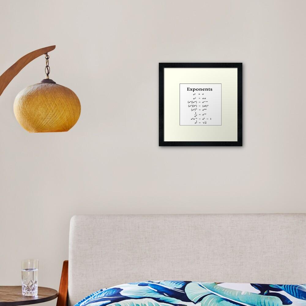 Exponents Framed Art Print
