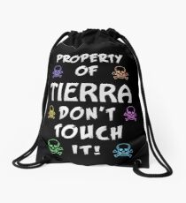 Property of Tierra Drawstring Bag