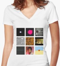 Childish Gambino Discography Women's Fitted V-Neck T-Shirt