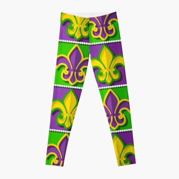 Mardi Gras  pattern Leggings