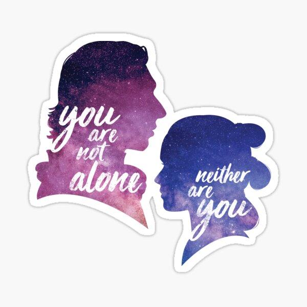 Reylo - No estás solo | Tampoco lo son ustedes Pegatina