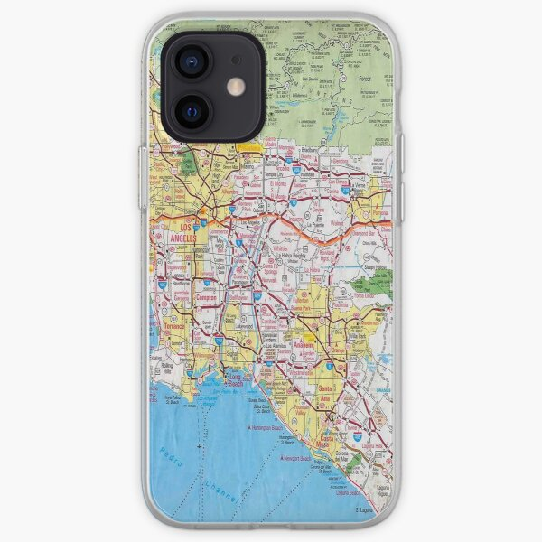 Los Angeles Map iPhone Soft Case