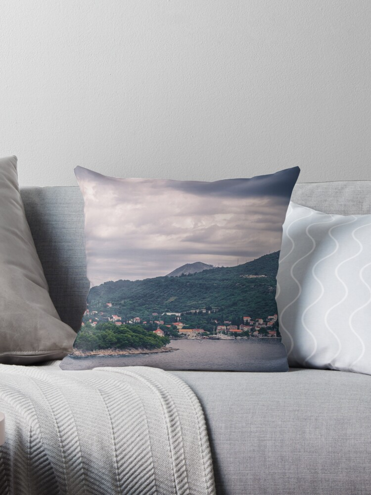 DUBROVNIK LANDSCAPE [Throw pillows] by Matti Ollikainen