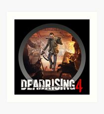 dead rising - to see what's happening on street Art Print