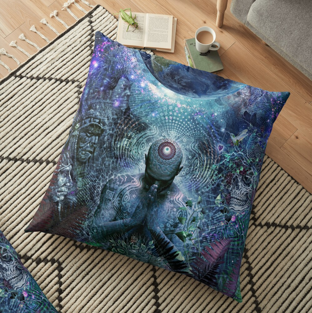 Gratitude For The Earth And Sky Floor Pillow