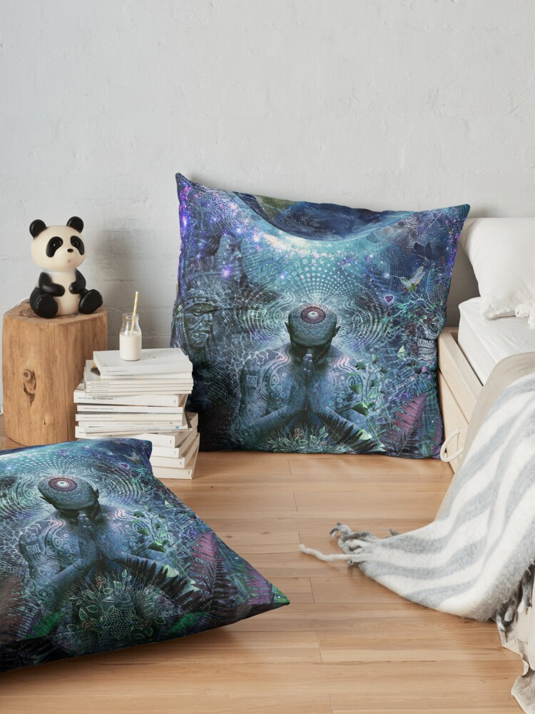 Alternate view of Gratitude For The Earth And Sky Floor Pillow