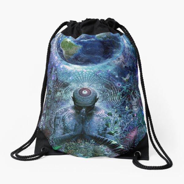 Gratitude For The Earth And Sky Drawstring Bag