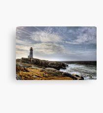 Peggy's Cove Lighthouse, Nova Scotia Canvas Print