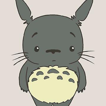 Cute little Totoro Staring by telurico