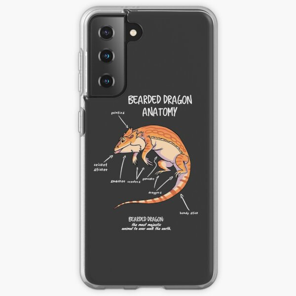 bearded dragon anatomy Samsung Galaxy Soft Case